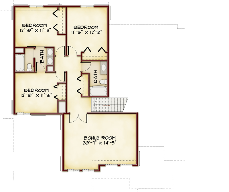 Canberra Floorplan- Upper Level