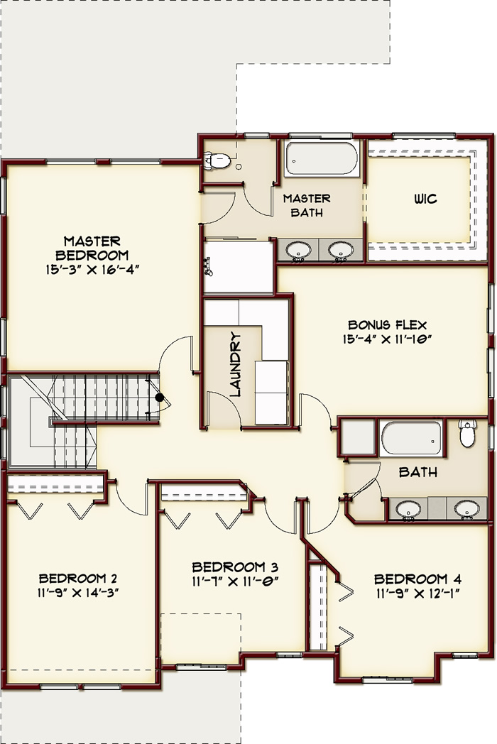 Weston Floorplan- Upper Level